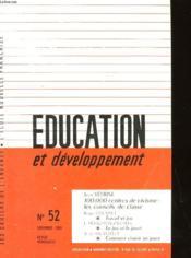Education Et Developpement N°52 - Couverture - Format classique