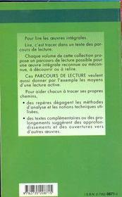 Manon Lescaut, de Prévost - 4ème de couverture - Format classique