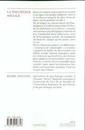 La Malchance Sociale - 4ème de couverture - Format classique