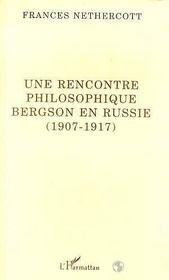 Une rencontre philosophique ; Bergson en Russie (1907-1917) - Intérieur - Format classique