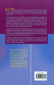 Le vin : analyse et transformations chimiques - 4ème de couverture - Format classique