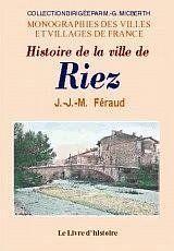 Histoire de la ville de riez - Couverture - Format classique