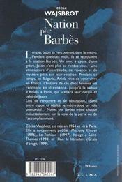 Nation Par Barbes - 4ème de couverture - Format classique