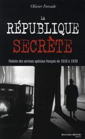 La République secrète - Intérieur - Format classique