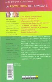 La revolution des omega 3 - 4ème de couverture - Format classique