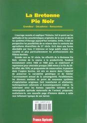 La bretonne pie noir ; grandeur, décadence, renouveau - 4ème de couverture - Format classique