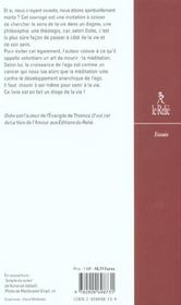 Le livre des morts pour l'occident - 4ème de couverture - Format classique