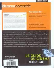 Le Guide Du Cinema (édition 2004) - 4ème de couverture - Format classique