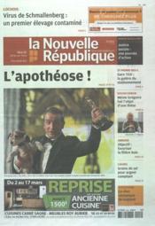 Nouvelle Republique (La) N°20481 du 28/02/2012 - Couverture - Format classique