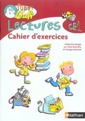 Lectures ; CE1 ; cahier d'exercices