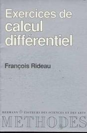 Vente livre :  Exercices de calcul differentiel  - Rideau Francois - Rideau-F