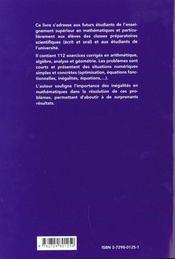 Mathematiques De Competition 112 Problemes Corriges Terminale S => Classes Preparatoires - 4ème de couverture - Format classique