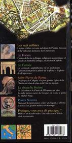 Rome, Italie - 4ème de couverture - Format classique