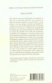 Dolce agonia - 4ème de couverture - Format classique