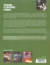 Coupage Et Procedes Oxygaz - 4ème de couverture - Format classique