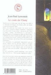 Code De Cluny Et Le Trace De L'Apocalypse (Le) - 4ème de couverture - Format classique
