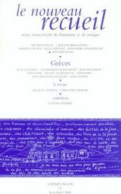 Le Nouveau Recueil T.71 ; Greces - Intérieur - Format classique