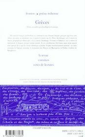 Le Nouveau Recueil T.71 ; Greces - 4ème de couverture - Format classique
