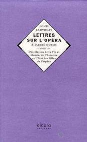 Lettres Sur L'Opera De L'Abbe Dubos - Couverture - Format classique