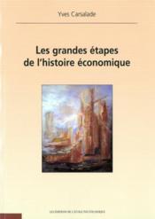 Les grandes étapes de l'histoire économique - Couverture - Format classique