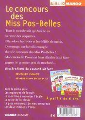 Le petit monde de mademoiselle Prout ; le concours des miss pas-belles - 4ème de couverture - Format classique