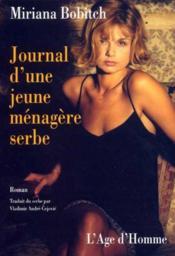 Journal D'Une Jeune Menagere Serbe - Couverture - Format classique
