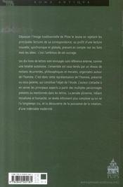Les lettres de pline le jeune ; une représentation de l'homme - 4ème de couverture - Format classique
