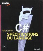 C Dièse. spécifications du langage - Intérieur - Format classique