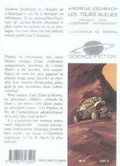 Projet Mars t.2 ; les tours bleues - 4ème de couverture - Format classique