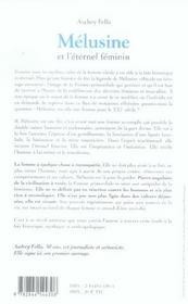 Melusine Et L'Eternel Feminin - 4ème de couverture - Format classique