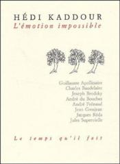 L'Emotion Impossible - Couverture - Format classique
