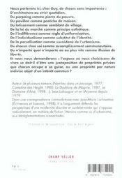 Lettre Au Maire De Mon Village - 4ème de couverture - Format classique