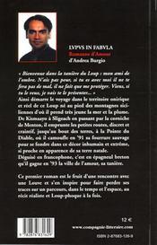 Lupus In Fabula ; Romanzo D'Amour - 4ème de couverture - Format classique