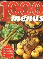 100 Menus N° 1. Le Menu De Reception, Le Menu Copains, Le Pense Marche... - Couverture - Format classique
