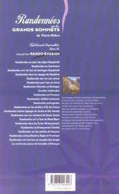 Randonnees Sur Les Grands Sommets - 4ème de couverture - Format classique