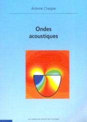 Ondes acoustiques - Couverture - Format classique