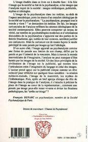 L'Image Sur Le Divan - 4ème de couverture - Format classique