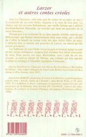 Larzor et autres contes créoles - 4ème de couverture - Format classique