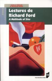 Lectures de Richard Ford ; a multitude of sins - Couverture - Format classique