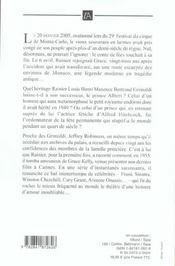 Rainier Et Grace - 4ème de couverture - Format classique