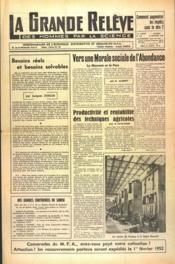 Grande Releve (La) N°106 du 19/01/1952 - Couverture - Format classique