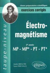 Electromagnetisme Mp-Mp*-Pt-Pt* Exercices Corriges - Intérieur - Format classique