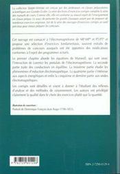 Electromagnetisme Mp-Mp*-Pt-Pt* Exercices Corriges - 4ème de couverture - Format classique