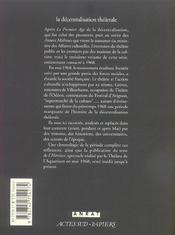 La Decentralisation Theatrale V3 - 1968, Le Tournant - 4ème de couverture - Format classique