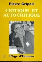 Critique Et Autocritique - Couverture - Format classique