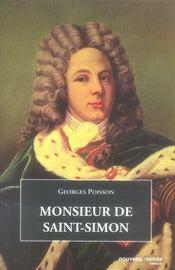 Monsieur De Saint-Simon - Intérieur - Format classique