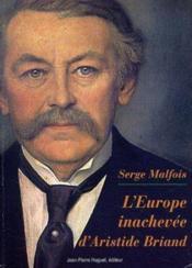 L'europe inachev e d'aristide braind - Couverture - Format classique