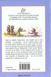 La Famille Taupe Tatin Dans La Gadoue - 4ème de couverture - Format classique
