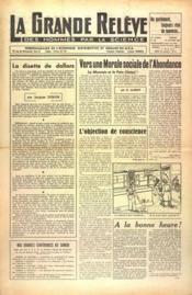 Grande Releve (La) N°107 du 26/01/1952 - Couverture - Format classique