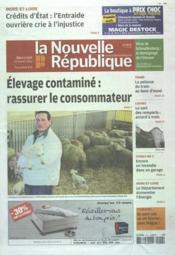 Nouvelle Republique (La) N°20482 du 29/02/2012 - Couverture - Format classique